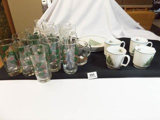 Holiday Glasses  Cups  Plates  20