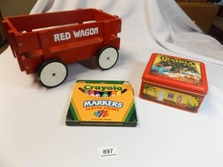 Crayola Crayons  Markers  Red Wagon