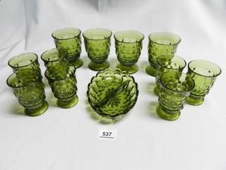Avocado Green Drinking Glasses  11