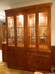 China Cabinet  Glass Display Above