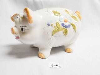 lefton Piggy Bank w Floral Design