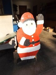 Wood Santa Claus   46  x 29