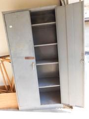 Metal Cabinet with Doors