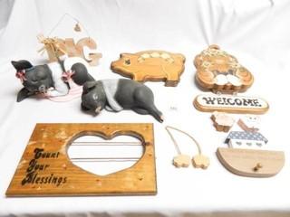 Ceramic Pigs 2  Tole Painted Items