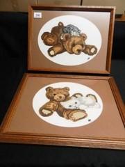 Crewel Embroidery  Teddy Bears