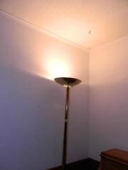 Brass Floor lamp  71  h  works