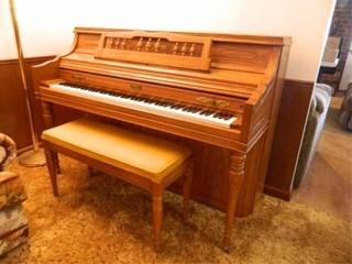 Kimball Piano w Upholstered Bench
