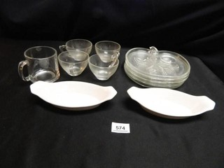 Apple Shaped Serving Dishes w cups