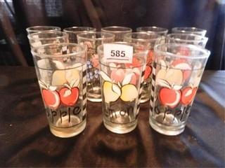 Drinking Glasses  12  w Fruit Design