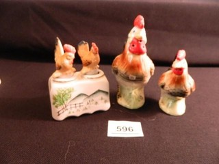 Rooster   Hen S P Shakers  2 Sets