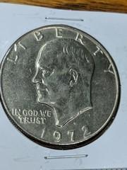 1972 Eisenhower US $1 coin
