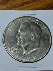 1972 Eisenhower $1 coin