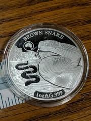 Brown snake 1 oz AG 999 Solomon islands 2019