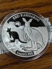 Red kangaroo 1 oz AG 999 Solomon islands 2019