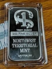 Northwest Territorial mint 0.999 fine silver one
