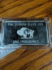 Find German silver .999 one troy ounce
