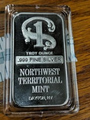 One troy ounce .999 fine silver northwest
