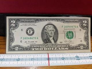 United States $2 bill 2013