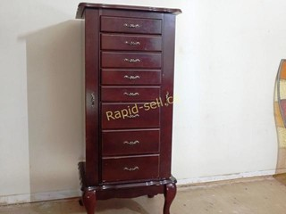 Cherry Finish Jewellery Armoire