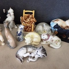 Curio Cabinet Cats Collection Plus Friends