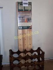 Hang Tough Pine Storage & Wine Rack