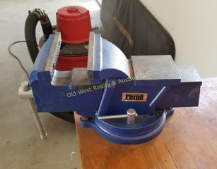 Central Forge Bench Vise & Cabinet on Rollers