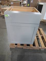 Hampton Bay Cambridge Assembled 24x34.49x24.44 in. Base Cabinet with Soft Close Full Extension Drawer in Gray CM2435B-KG