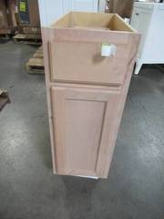 Hampton Bay Assembled 12x34.5x24 in. Base Kitchen Cabinet in Unfinished Beech KB12-UFDF