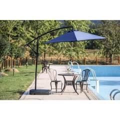 Patio Festival 9 ft. Steel Cantilever Patio Umbrella in Blue PF18254