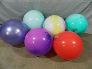 6 New 15 inch Play Balls