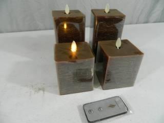4 Luminara Flameless Candles