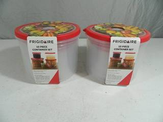 2 New Frigidaire Food Container Sets
