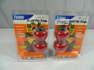 2 New Fruit Fly Trap Sets