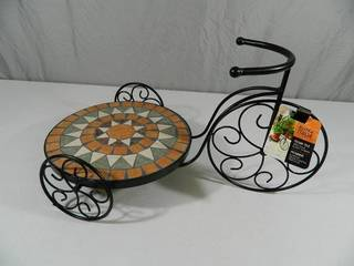 New Mosaic Tile Trike Plant Stand