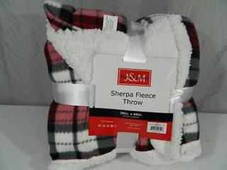 New Sherpa Fleece Throw