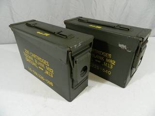 Pair of 30 Cal. US Military Ammo Cans