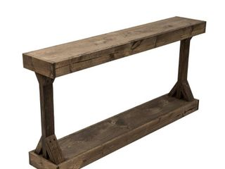 Barb Large Console Table Solid Wood by Del Hutson Designs - Retail:$249.00