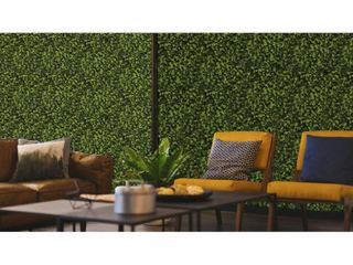 Indoor/Outdoor Cancun Flowering Artificial Foliage Wall Panels - Green- Retail:$78.48