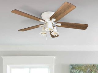 Carbon Loft Hae-Joo 52-inch Coastal Indoor LED Ceiling Fan with 5 Reversible Blades