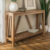 The Gray Barn Paradise Hill A-frame Console Table- Retail:$227.49