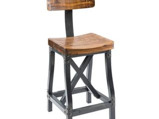 Lancaster Barstool with Back Amber/Graphite
