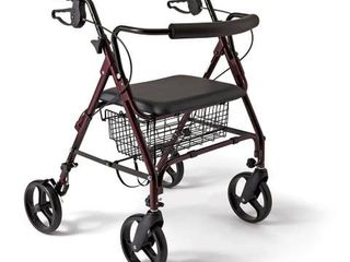 Medline Extra-wide Bariatric Heavy-duty 400 lb. Weight Capacity Rollator Walker $129.99