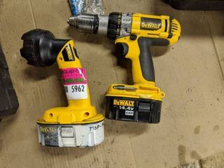 DeWalt Heavy Duty Cordless Drill Driver XRP 1 2 Inch DC 983 Type 1 And Rechargeable Flashlight Type 2 DW908