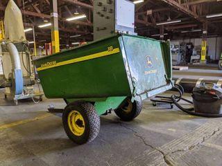 John Deere 1650 lb Capacity 18Cu  Ft  Tow Behind Steel Utility Cart
