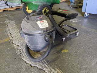Rolling Stool And Dayton Wet Dry Vacuum Model 3VE19A