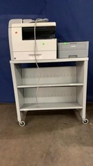 Brother Printer, Canon Scanner, Rolling Cart