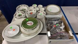 Flatware, Noritake Plates, Painted Plates,