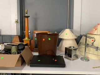 Lamps, Trash Can, Cups, Lamp Shades, Epson