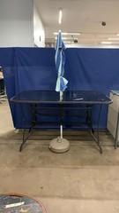Patio Table With Umbrella 66x40x38