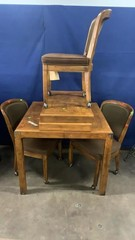 Henredon Dining Table, 3 Chairs On Rollers,